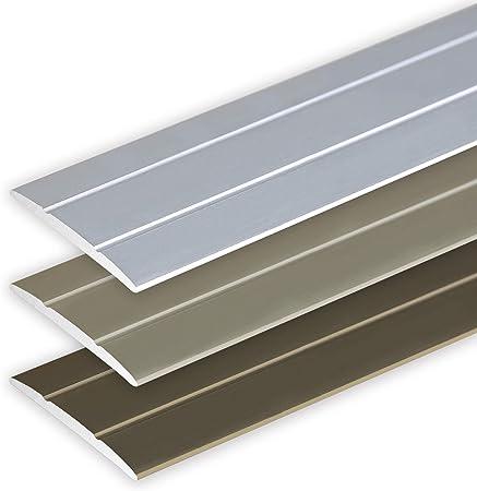 type: 350 couleur: bronze clair Aluminium anodis/é, autoadh/ésif Profil/é de transition // Bande de seuil // 80 mm
