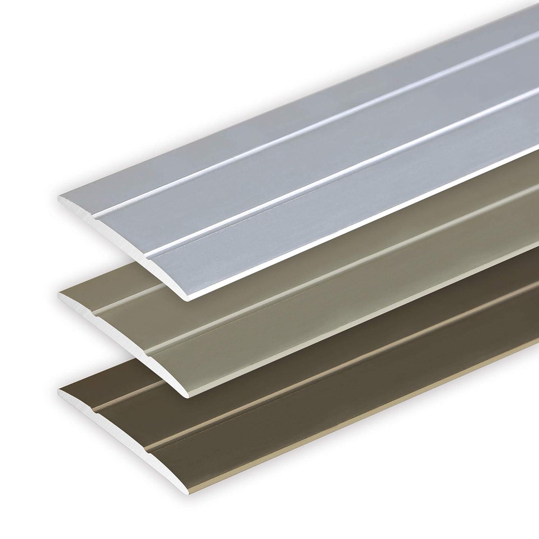 Champagner Toolerando /Übergangsprofil /Übergangsleiste Bodenleiste aus Aluminium zum Schrauben Profil 90 cm x 36 mm x 2,5 mm