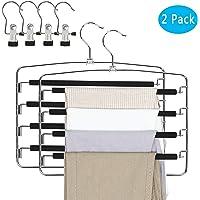 Qualsen Pants Hangers 2 Pack Jeans Hangers Multi