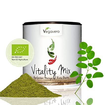 Superfood Vitality Mix Orgánico | 200 g | Proteína de Cáñamo + Moringa Oleifera + Remolacha