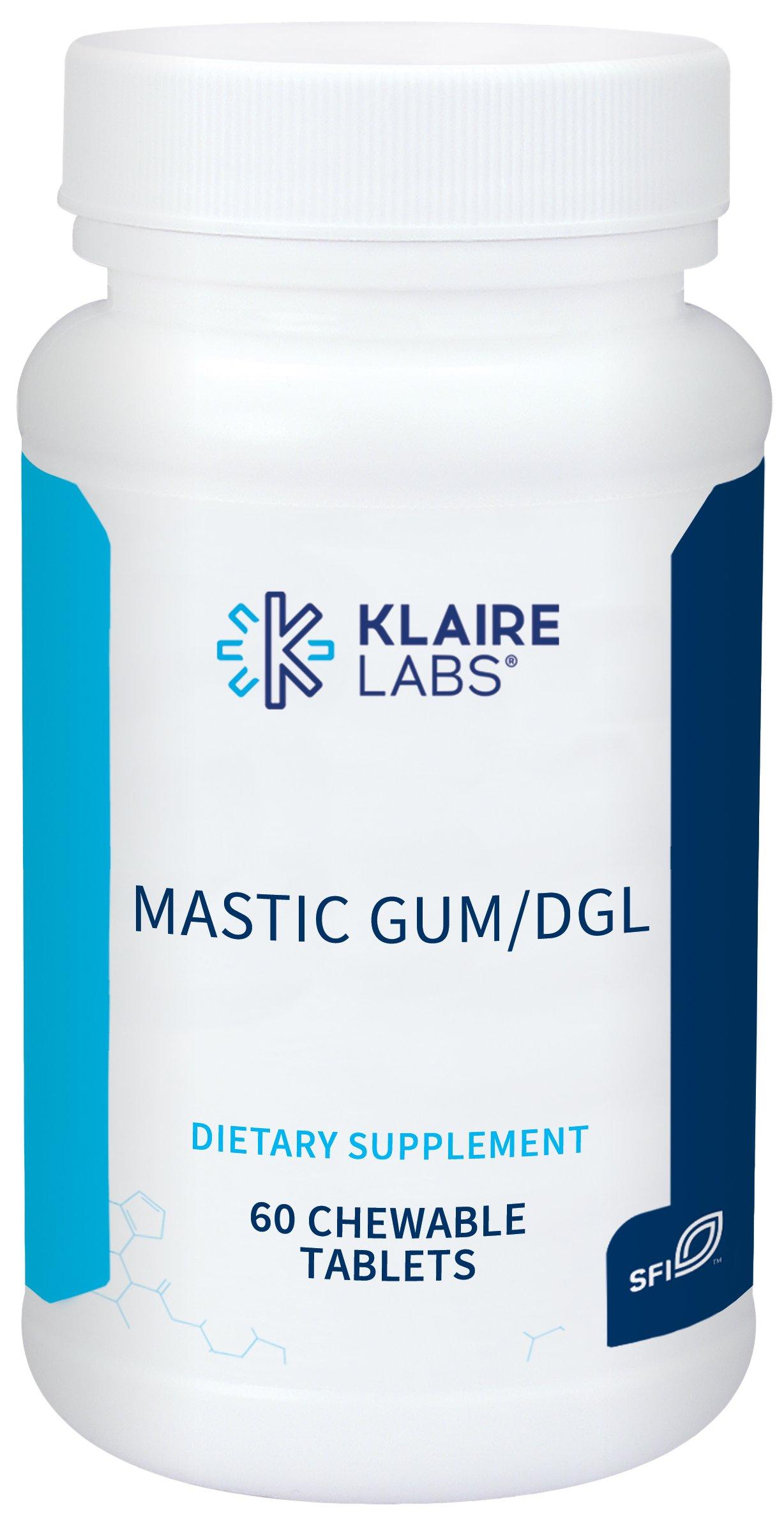 Klaire Labs Mastic Gum/DGL - Deglycyrrhizinated Licorice and Mastic Gum (60 Chewable Tablets)