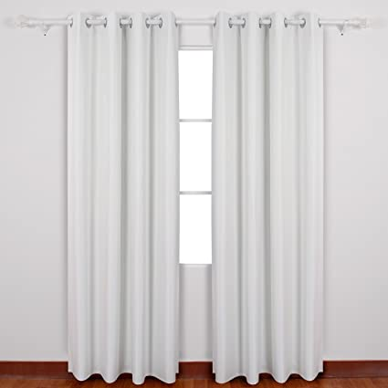 Deconovo Textured Thermal Insulated Blackout Curtain Heavy Fabric Drapes With Triple Pass Coating Back Layer