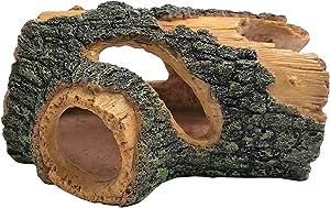 M2cbridge Aquarium Ornament Resin Hollow Tree Trunk Drift Wood Fish Tank Hideout Decor (Hollow Stump Small)
