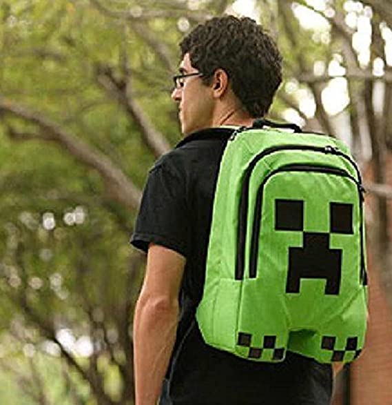 4821570e57 Minecraft Creeper Bag School Backpack Back Pack Rucksack Ruck Sack  Waterproof Book Creeper Storage Bag Sports  Amazon.co.uk  Luggage