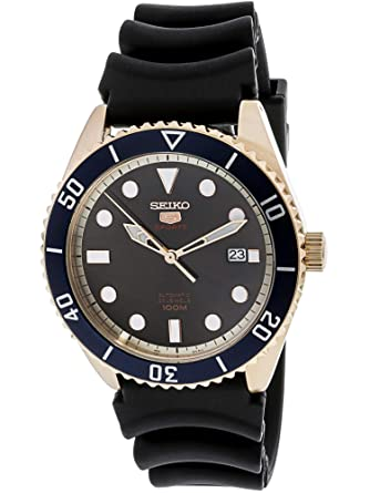 cd6929bf3b3 Image Unavailable. Image not available for. Color  Seiko Series 5 Automatic  Brown Dial Mens Watch SRPB96