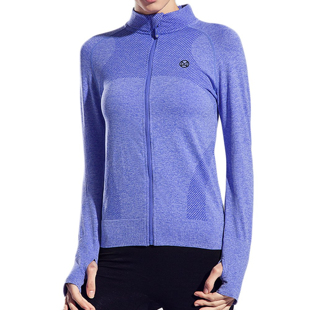 Hengshitong Womans Long-Sleeved Quick-Drying Running Fitness Yoga Clothes Jacket