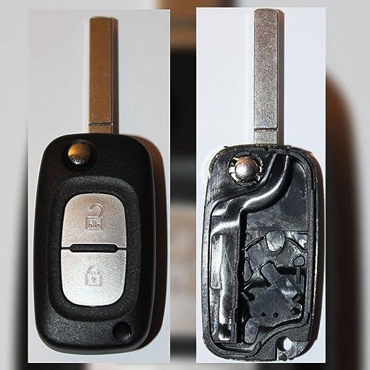 Coque clé plip télécommande 2 boutons Renault Kangoo Scenic ...