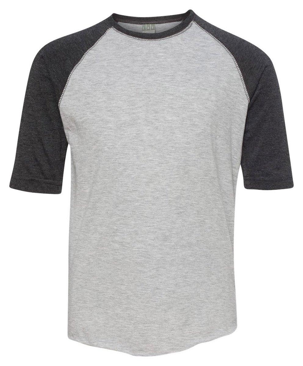 6130 LA T Youth Vintage Baseball T-Shirt - Heather/ Hot Pink - X-Small LAT