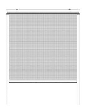 Insektenschutz Rollo 100x160cm Braun Fliegengitter Netz Fenster Rhino Screen