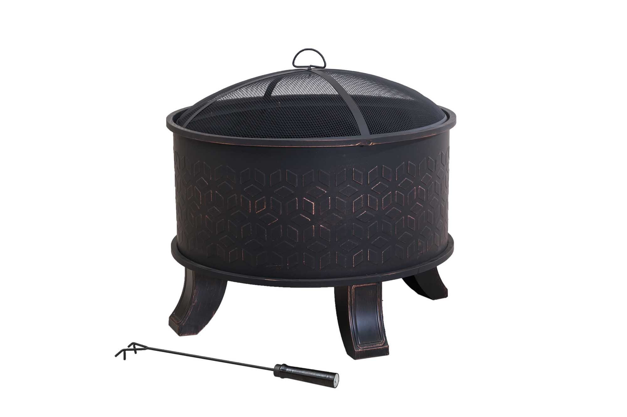 Sunjoy 110501018 Wood Fire Pit by Sunjoy