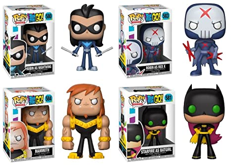 Funko POP! Teen Titans Go!: Robin Ad Nightwing + Starfire As Batgirl +