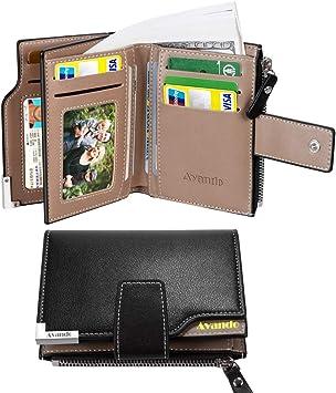 Men Leather Short Wallet Credit Card Holder Purse Bifold Money Clip Pockets Bag