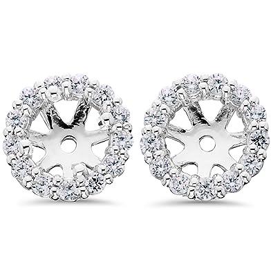 14k white gold 1 2ct diamond earring jackets stud