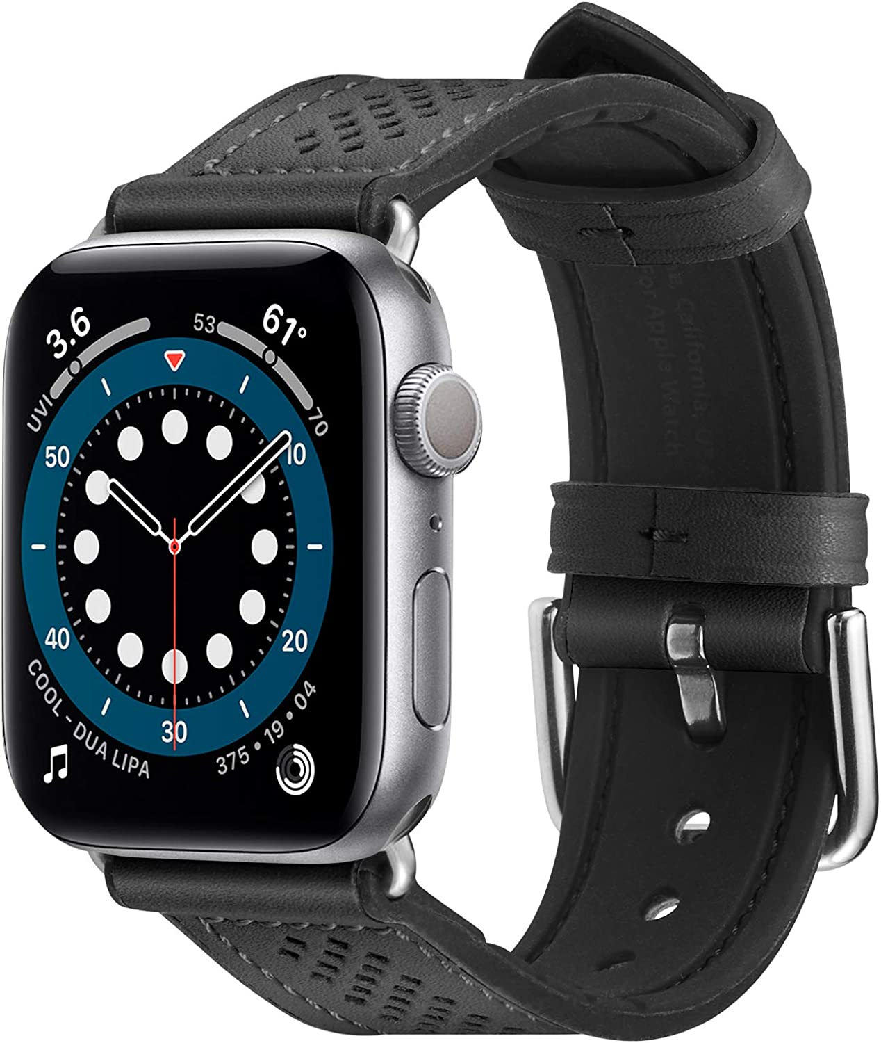 Spigen Retro Fit Designed for Apple Watch Band for 40mm/38mm Series 6/SE/5/4/3/2/1 - Black