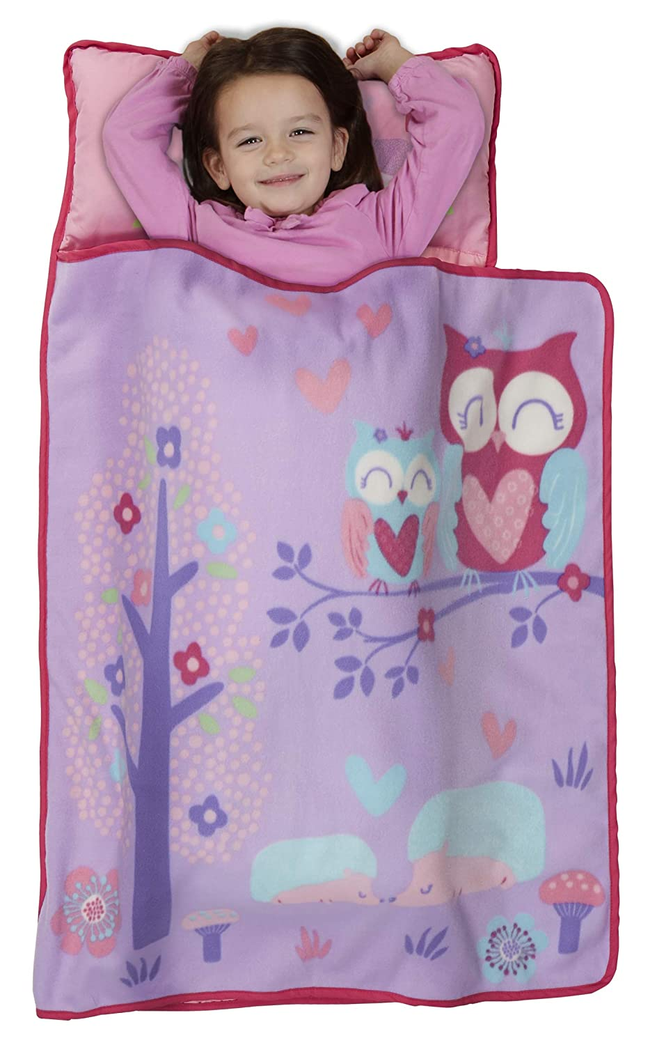 Preschool Great for Girls Sleeping at Daycare Includes Pillow and Fleece Blanket Baby Boom Pink Princess Kids Nap Mat Set or Kindergarten Fits Napping Toddlers or Young Children