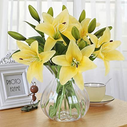 Amazon Artificial Flowers Meiwo 5 Pcs Real Touch Latex