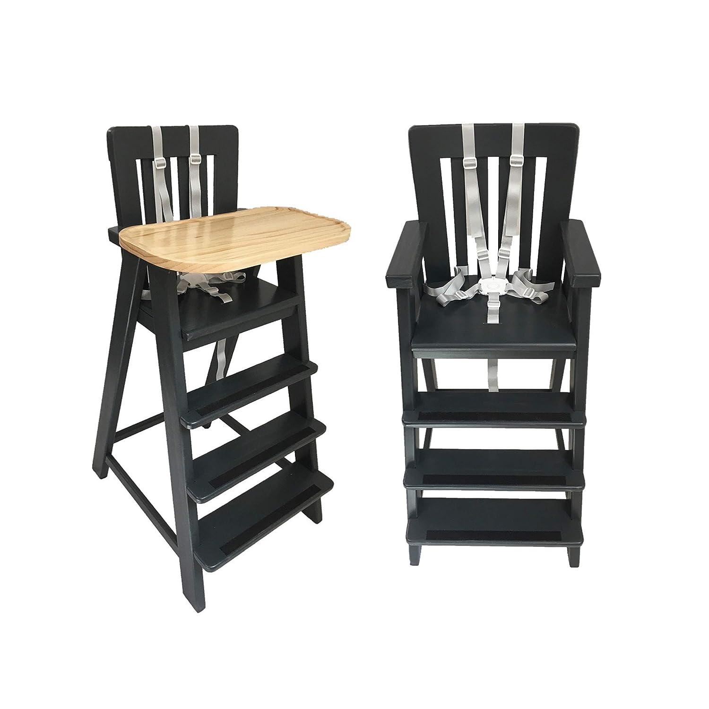Wooden High Chair, Schuster Booster, Toddler Dining Chair, High Chair,  Child Booster Seat, Wooden Booster Chair