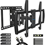 MOUNTUP TV Wall Mount, TV Mount Swivel and Tilt Full Motion for 42-70 Inch Flat Screen/Curved TVs, Articulating Wall Mount TV