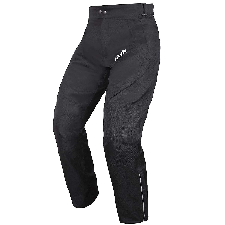 1 year Guarantee Waist30-32 Inseam32 HWK Mens Black Textile Breathable Waterproof CE Armoured Motorbike Overpants Motorcycle Trousers//Pants