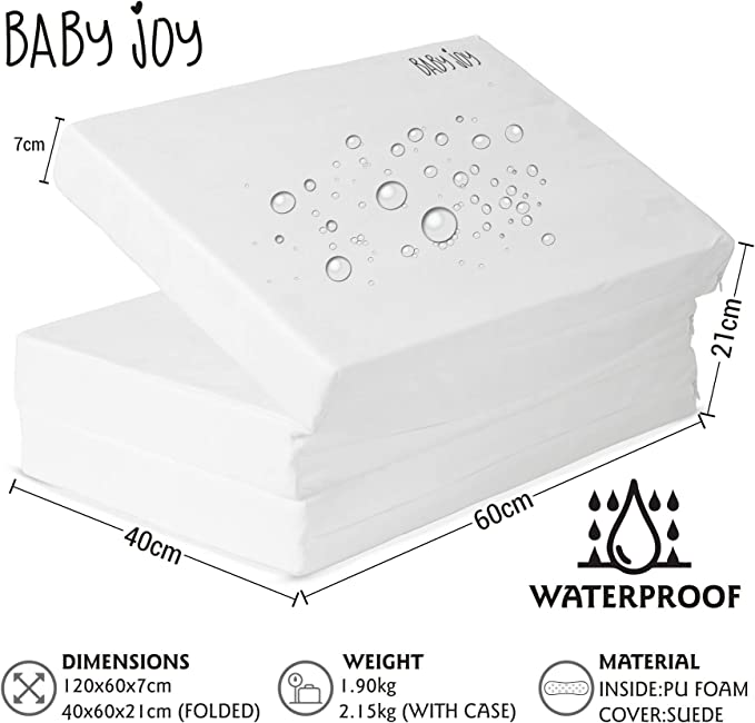 Hauck and All Other 120x60cm Travel Cots Baby Joy 100/% Waterproof Extra Thick 7cm Foam Child Baby Travel Mattress 120x60cm Perfect Fit for Large Baby Joy Includes 2X 100/% Waterproof Fitted Sheets