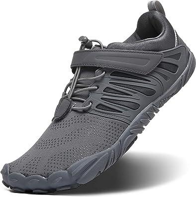 Zapatos Minimalistas de Trail Running para Hombre con Puntera Ancha, para Entrenamiento en el Gimnasio Wokout, Gris (Gris), 44 EU: Amazon.es: Zapatos y complementos