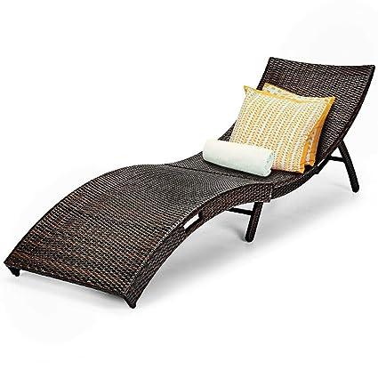 Amazon.com: King77777 - Sofá cama de ratán para exteriores ...
