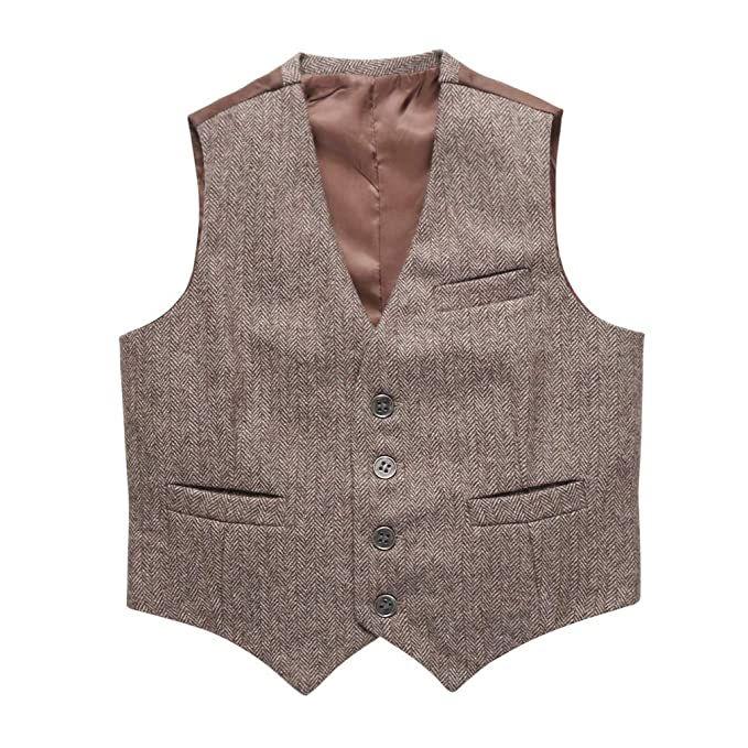 1920s Children Fashions: Girls, Boys, Baby Costumes Coodebear Boys Girls Top Design Casual Waistcoat Pockets Buttons V Collar Vests $16.48 AT vintagedancer.com