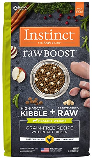 Amazon instinct raw boost healthy weight grain free recipe with instinct raw boost healthy weight grain free recipe with real chicken natural dry dog food by forumfinder Gallery