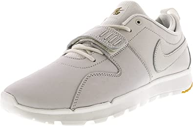 b2be72245877 Image Unavailable. Image not available for. Color  Nike Men s Trainerendor Premium  Summit White Gum Light Brown Ankle-High Leather Skateboarding Shoe