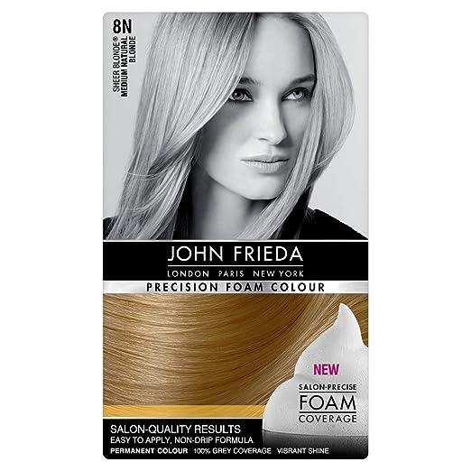 John Frieda Precision Foam Colour Hair Dyer 8n Medium Natural Blonde