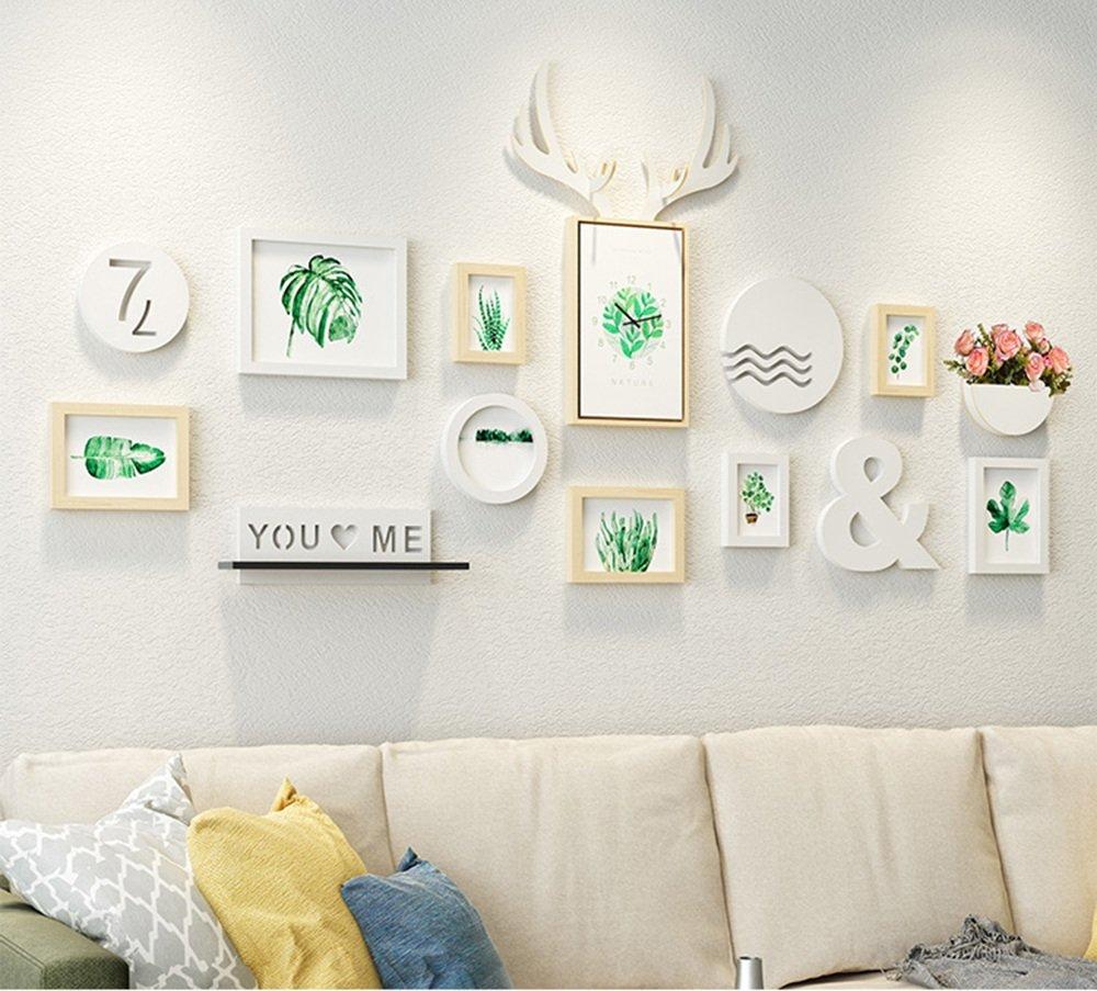 ALUP- 大きなフレームマルチペインティングの組み合わせ現代ミニマルスタイルのMDF素材フォトフレームホーム壁装飾絵画セット8 ( 色 : #3 ) B07C52LKT4 11641 #3 #3