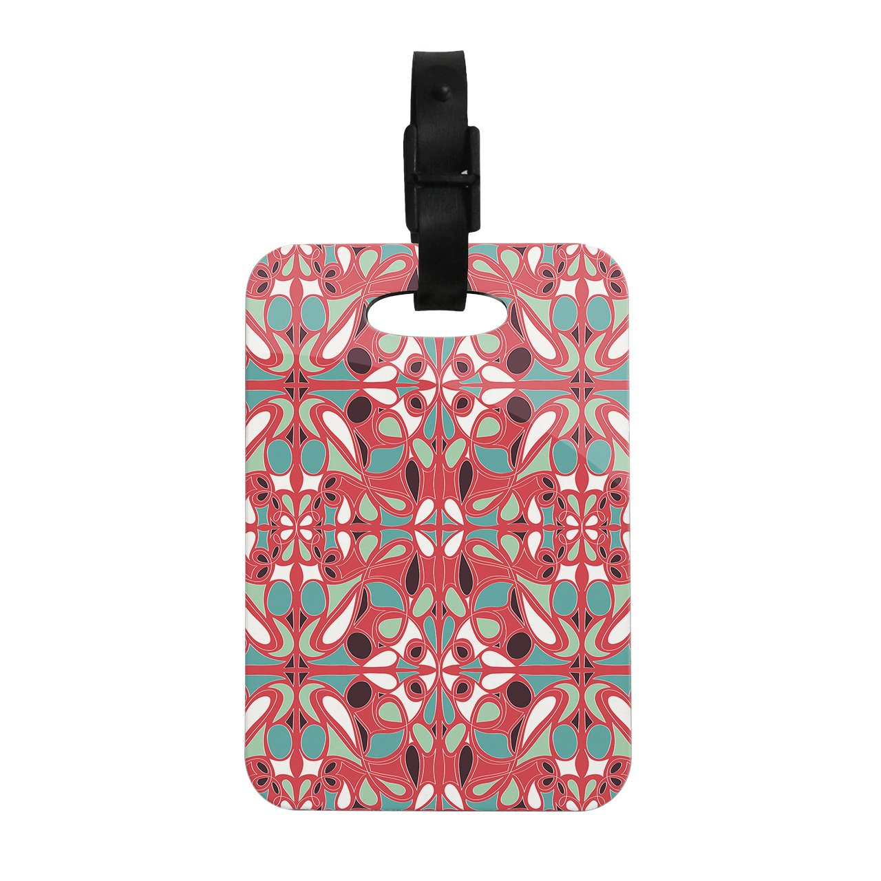 Kess InHouse Miranda Mol Stained Glass Pink Decorative Luggage Tag, 4 by 4-Inch