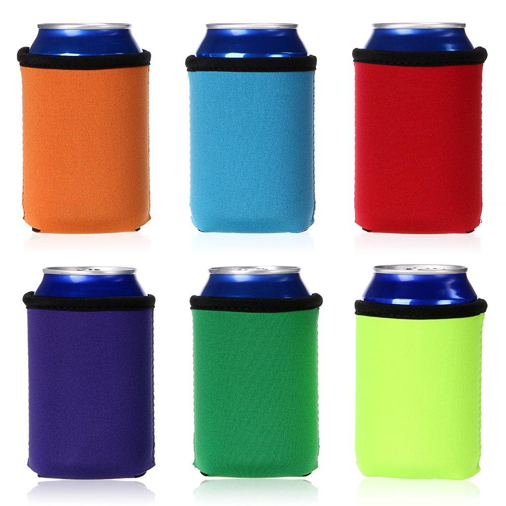 Funda enfriadora Holder Koozie de latas de cerveza, el aislante de latas enfría 0,33 l, varios colores por Ignpion (6piezas) Hipiwe