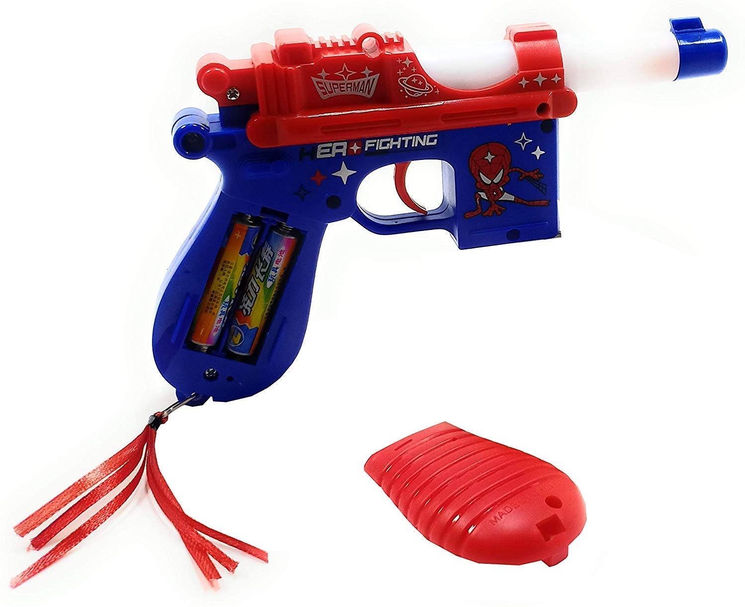 KF Deals Spiderman Projector Gun with Real Sound Light and Music for Your Kids (Multicolor) (B0828WPD3R) Amazon Price History, Amazon Price Tracker