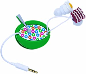 DCI 31052 Breakfast Earbud and Cord Wrapper Set - Retail Packaging - Multi