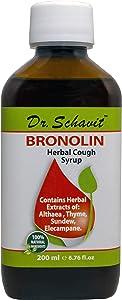 Dr. Schavit BRONOLIN Herbal Cough Syrup 100% Natural Ingredients 6.76fl.oz