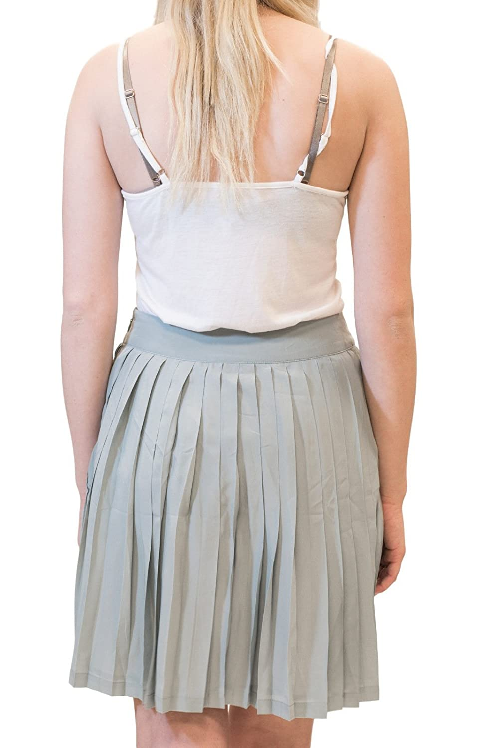 X-Large Darling Boutique Clothing Joanne High Waist A-line Skirt Ash Grey DLS12172