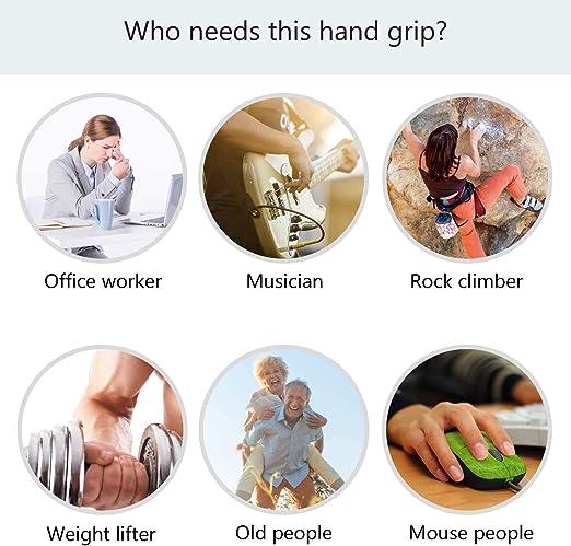 Hipier Hand Grip Strengthener Renforcement Musculaire Bras et R/é/éducation Poign/ée dexercice Avant-Bras Musculation Poignet 150lbs