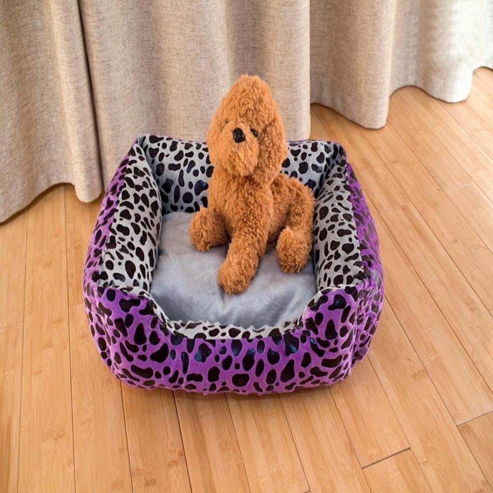 Kaxima Pet Bed for Pet Mat Atmosphere Purple Leopard Tattoo Pet Litter Pet Supplies Purple