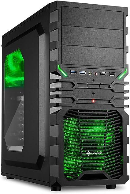 Sharkoon VG4-W - Caja de Ordenador Gaming (semitorre ATX ...