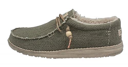 new concept eeec7 b2b79 Dude Shoes Hey Men's Fur Lined Wally Natural Chalet Khaki