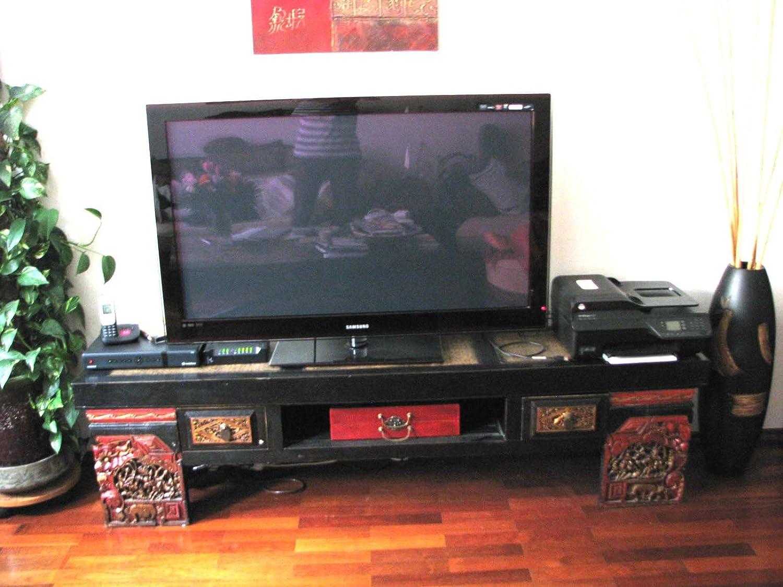 Opium Outlet – Aparador/madera banco de China con tallada: Amazon.es: Hogar