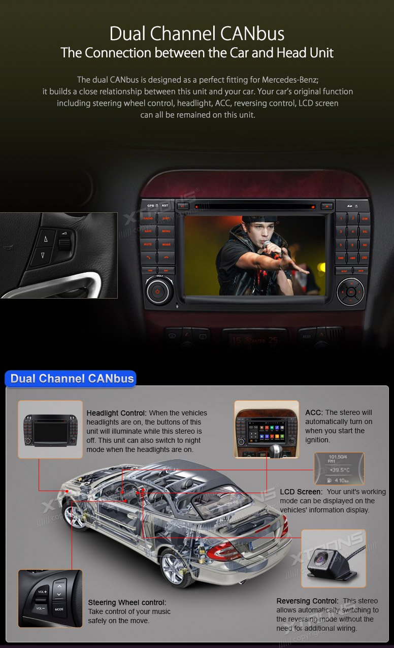 Xtrons 7 Inch Android 51 Car Stereo Capacitive Touch S500 2005 W220 Radio Wiring Screen Dvd Player Gps 1080p Obd2 Canbus Built In Dab Tuner Tire Pressure Monitoring For