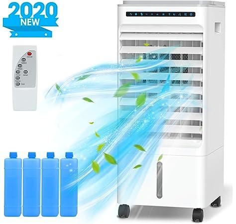 Aire Acondicionado Portátil, 180 ° Giratorio Purificador de Aire y Enfriador de Aire, Nuevo 2020 Silencioso Aire Acondicionado con Intelligentes Touchpanel, 1-4H ...