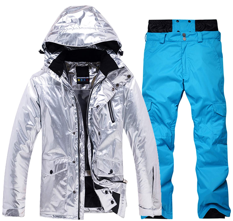 PENER Womens Thick Warm Ski Jackets Waterproof Ski//Snowboard Jacket and Pants Set