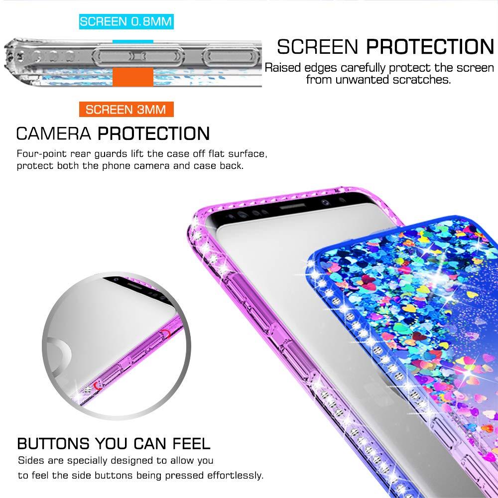 051a67c3 LeYi Funda Samsung Galaxy S9 Plus S9+ Silicona Purpurina Carcasa con ...