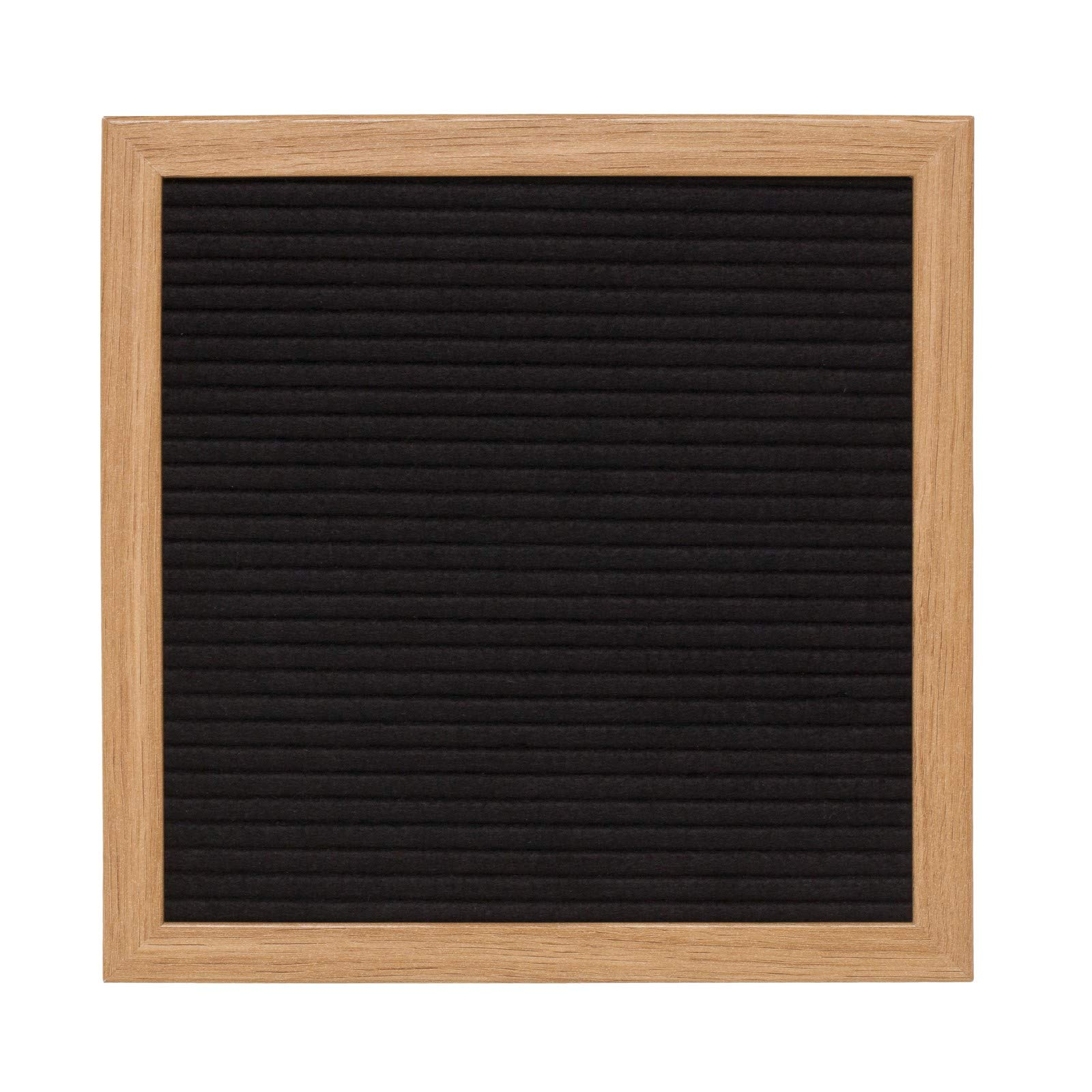 Black Felt Letter Board 10x10 inches. Includes 290 Changeable Letters & Symbols Free Bonus Bag to Store Letters