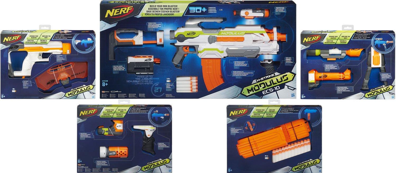 Nerf N-Strike Elite XD Modulus Maximus Kit: ECS-10 Blaster + 4 Zubehör-Sets