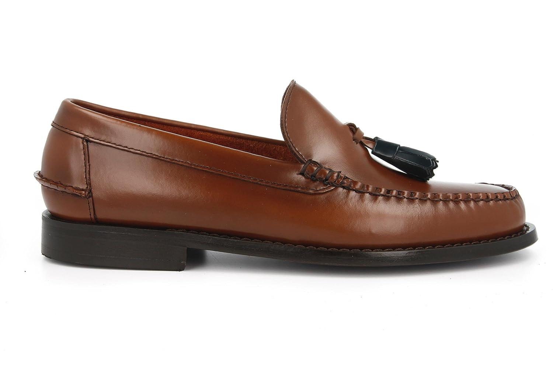 KERRIMAN Castellanos Hombre Marron KARIKOLE con BORLAS Verdes: Amazon.es: Zapatos y complementos