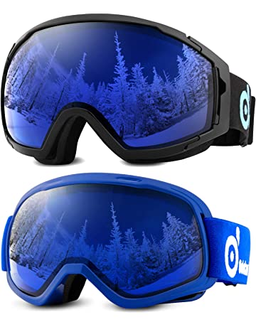 ab9ee954a6ca17 Odoland Lunettes de Ski Masque de Snowboard pour Homme   Femme Anti-UV400,  Anti